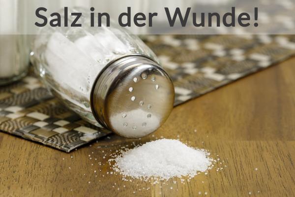 Salz Auf Wunde